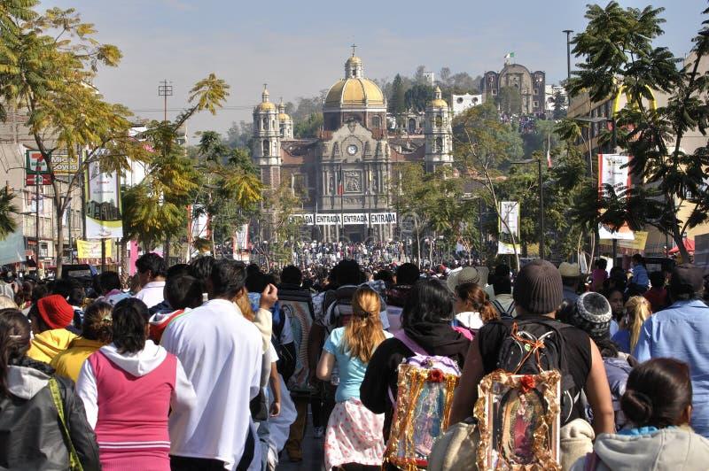 Pilgrimage to the basilica royalty free stock image