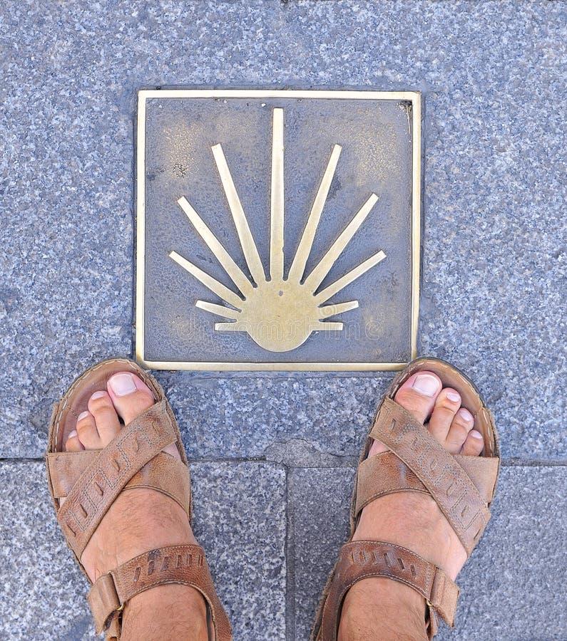 Download Pilgrimage to Santiago. stock image. Image of shell, information - 26012625