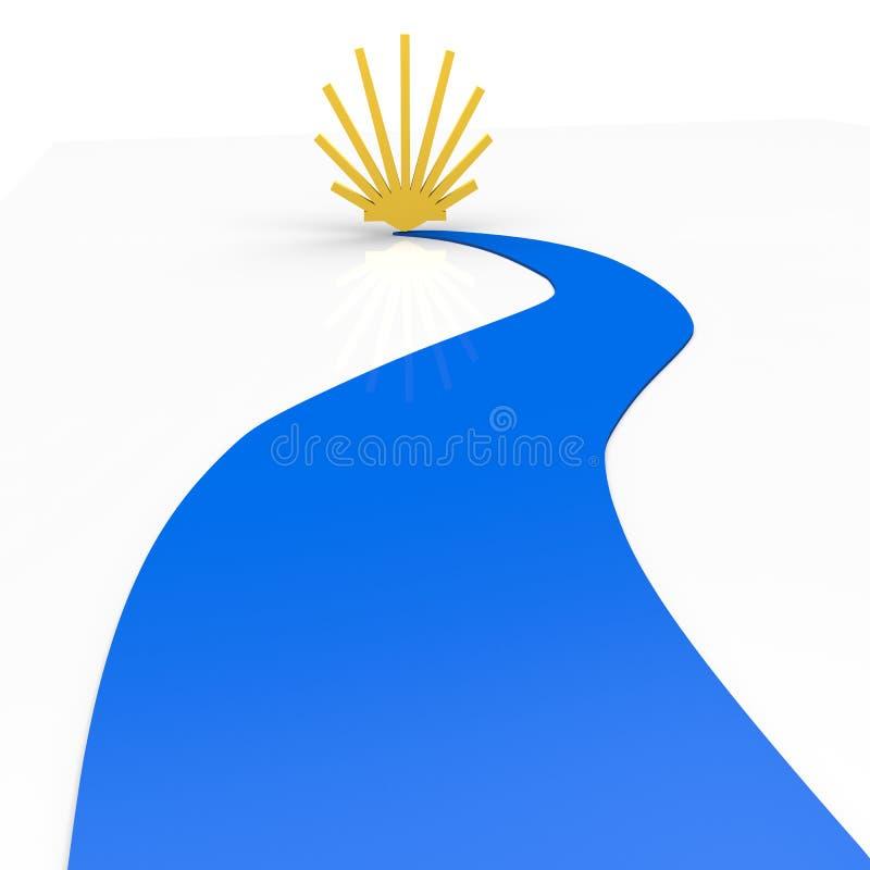 Download Pilgrimage stock illustration. Image of route, gold, rural - 31707930
