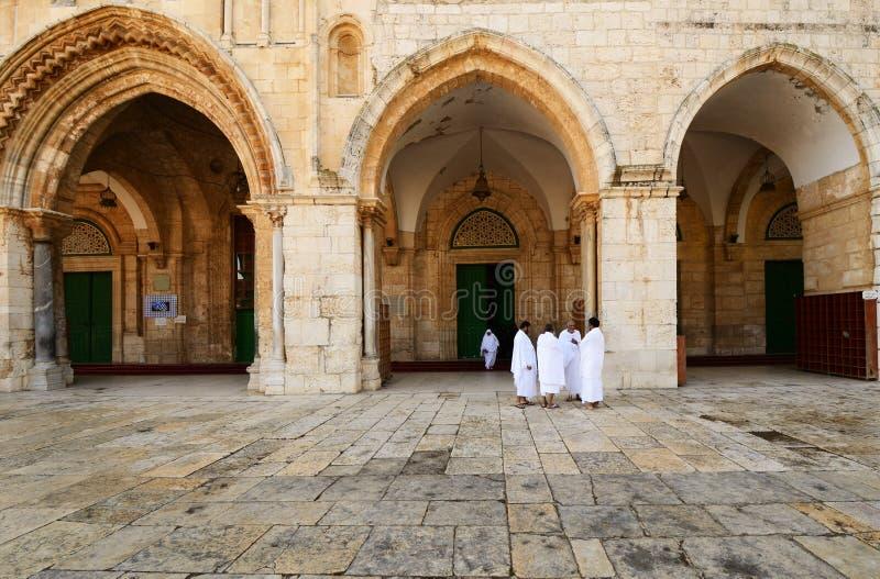 Pilgrims at Al Aqsa stock images