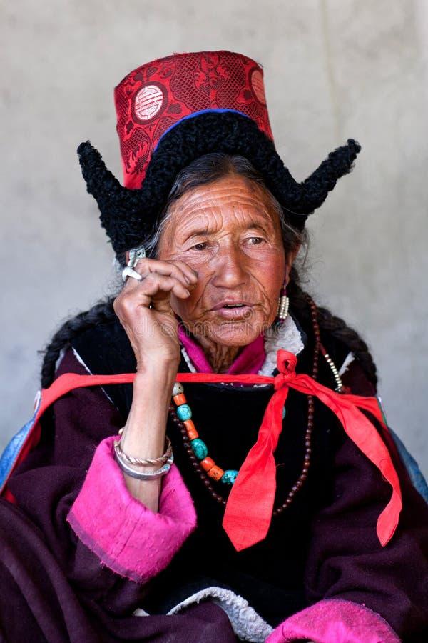 Pilgrims in Ladakh, India royalty free stock photo