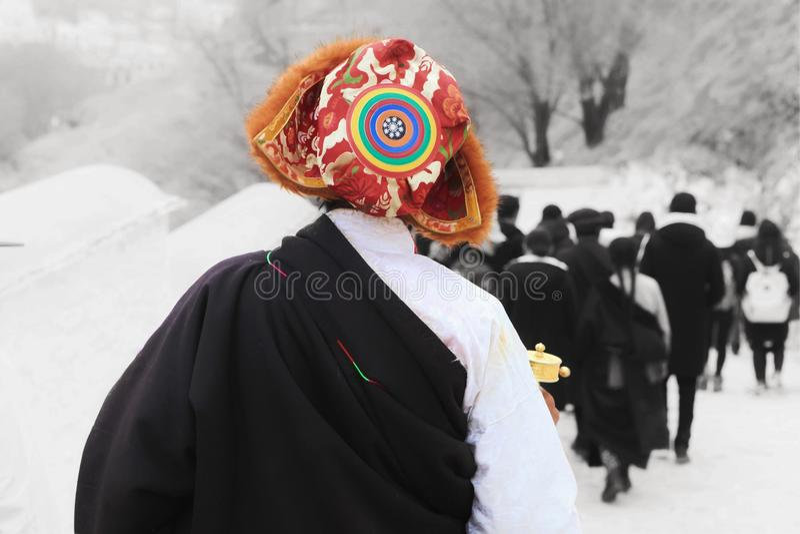 The pilgrims royalty free stock photo