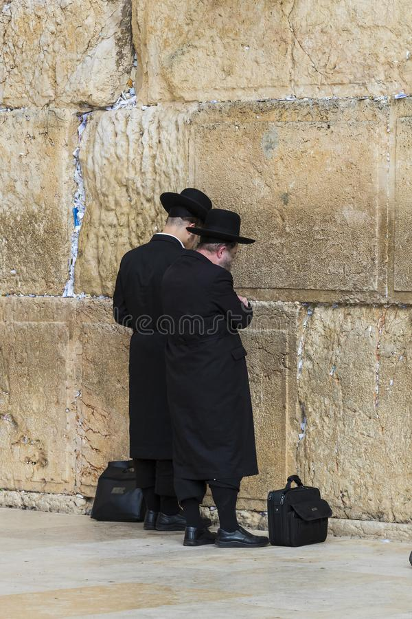 Pilgrims pray at the wall of the weeping of the holy place of the Jewish people and the center of worship of Christians around the. JERUSALEM, ISRAEL - 22 royalty free stock photos