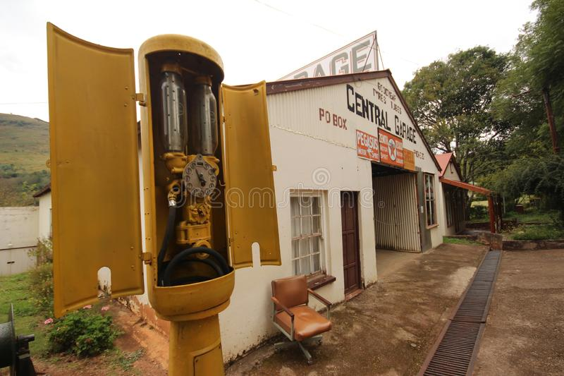 Pilgrims Rest - Buildings - Garage. Original Pilgrims Rest building in Mpumalanga. Garage on the main Street stock photography