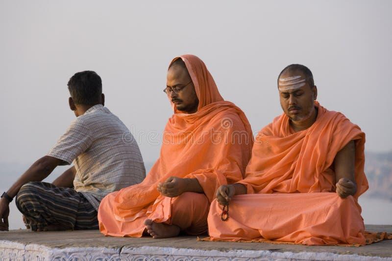 Pilgrims at Varanasi - India royalty free stock photos