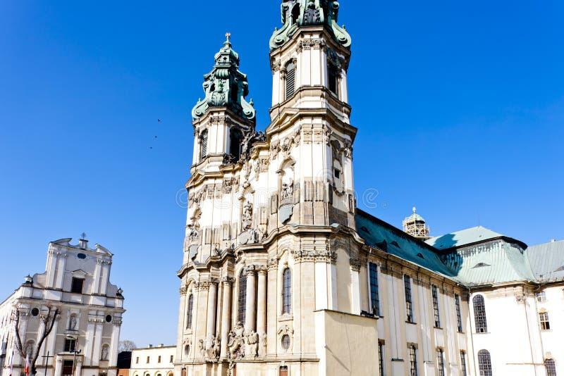 pilgrimsfärdkyrka i Krzeszow, Silesia, Polen fotografering för bildbyråer