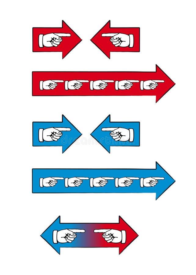 pilhänder royaltyfri illustrationer