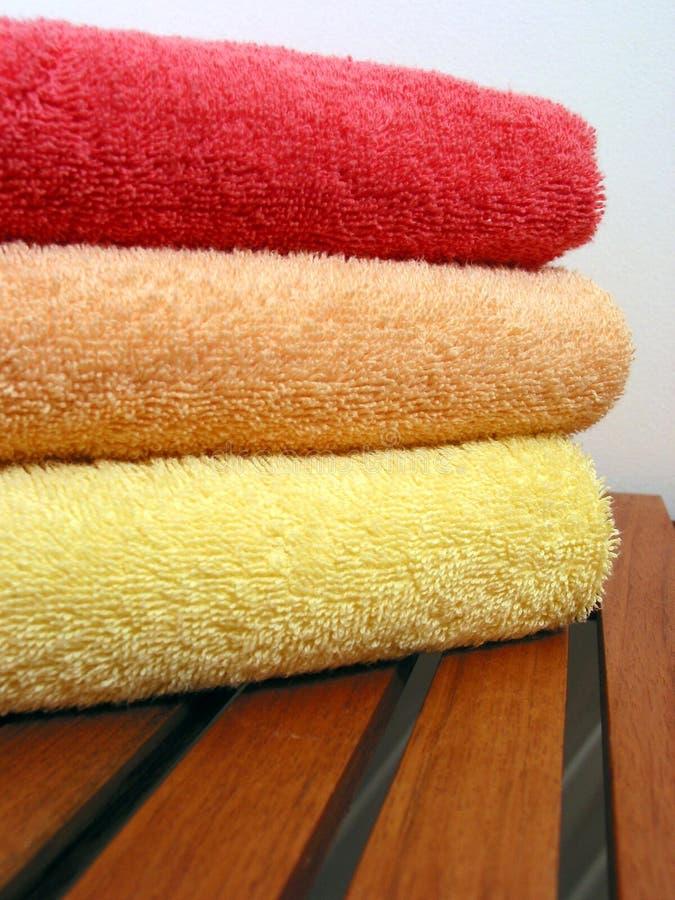 Pilha 6 de toalha fotografia de stock