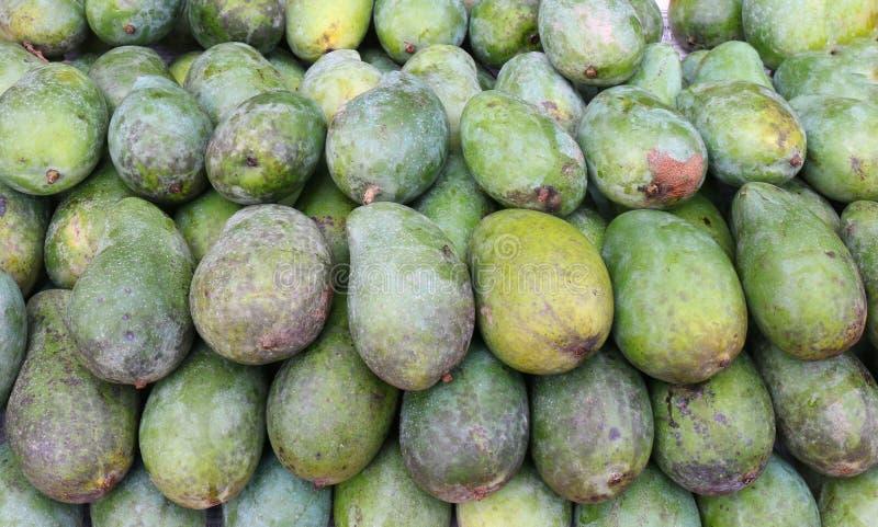 Pilha crua do verde da manga para o fruto abstrato do fundo, produto da manga que faz dieta o alimento limpo, alimentos da rua, a imagem de stock