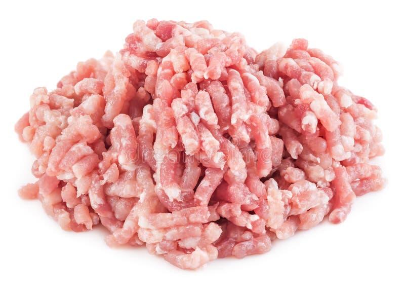 Pilha da carne triturada isolada foto de stock