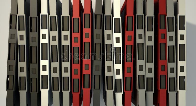 Pilha da cassete de banda magnética ilustração do vetor