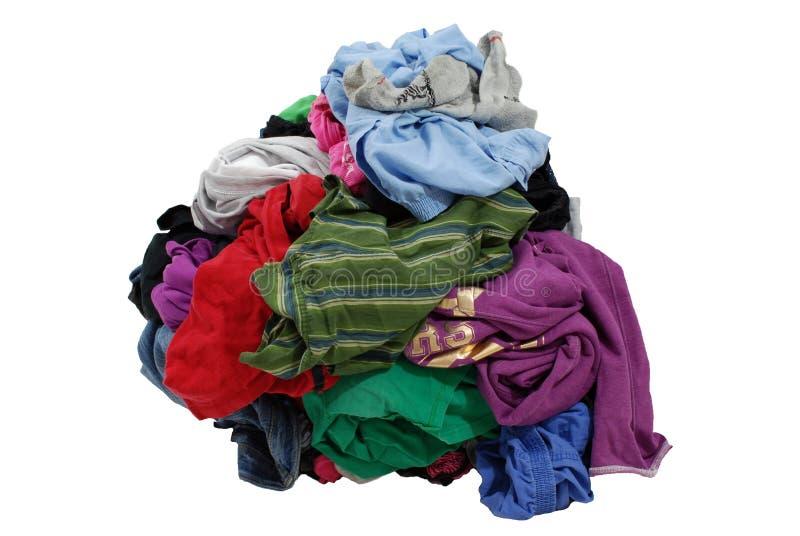 Pilha da lavanderia suja fotos de stock
