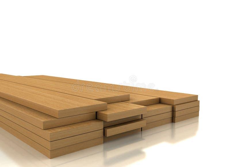 Pilha da madeira no branco ilustração royalty free