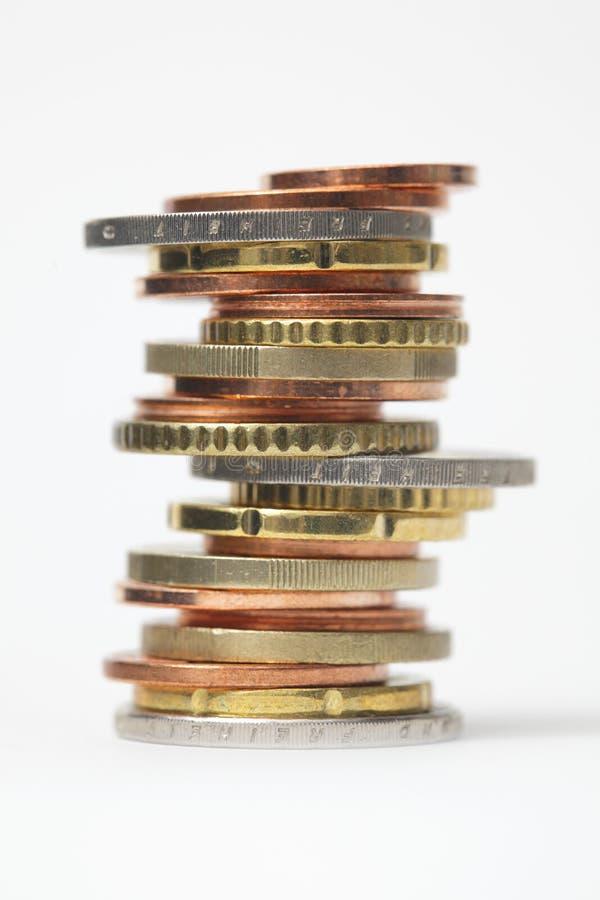 Pilha da moeda fotos de stock royalty free