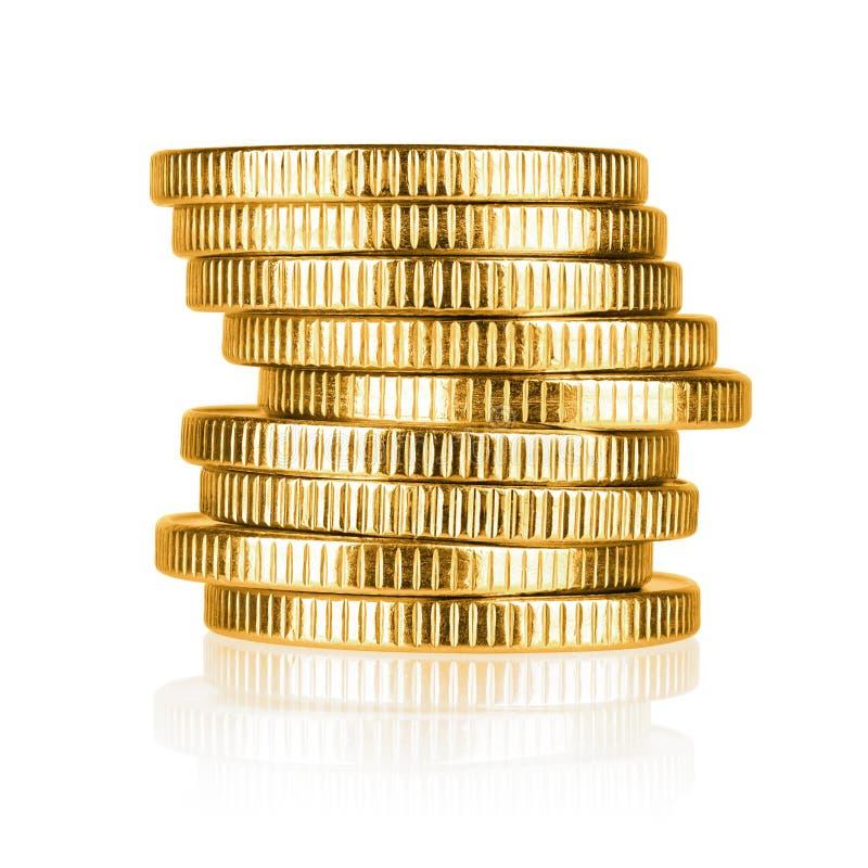 Download Pilha da moeda de ouro foto de stock. Imagem de troca - 80100660