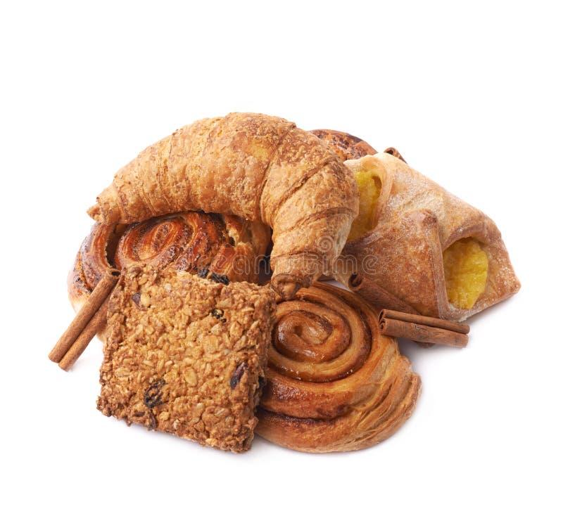 Pilha da pastelaria isolada fotografia de stock