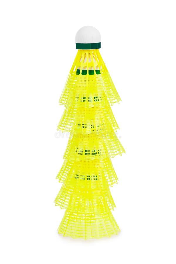 Pilha da peteca do badminton imagens de stock royalty free