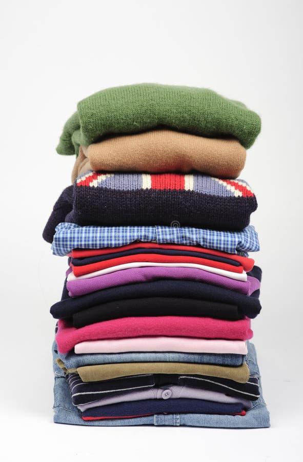 Pilha da roupa fotografia de stock