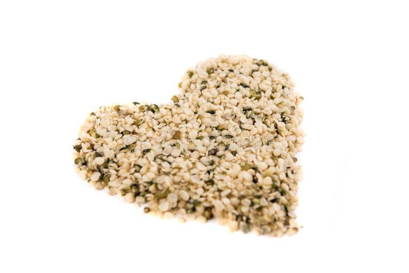 Pilha dada forma coração de corações do cânhamo foto de stock