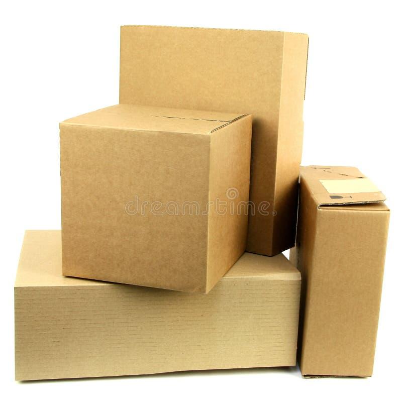 Pilha das caixas Iii fotos de stock royalty free