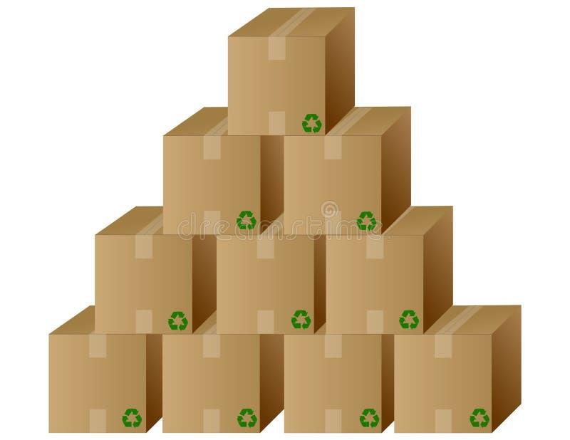 Pilha das caixas/vetor ilustração stock