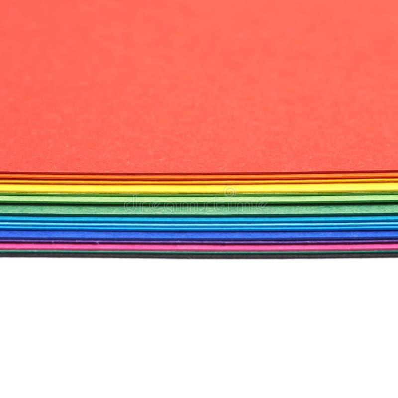 Pilha das folhas A4 coloridas imagem de stock royalty free