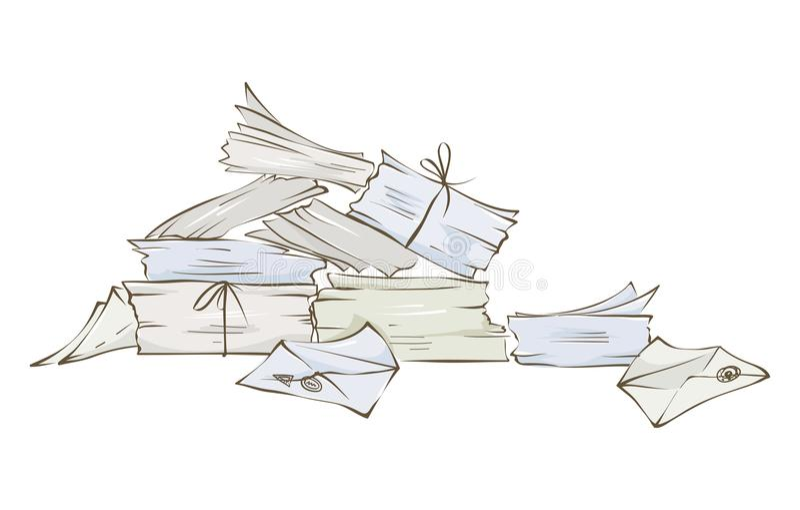Pilha das letras ilustração do vetor
