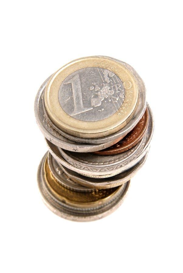 Pilha das moedas foto de stock royalty free