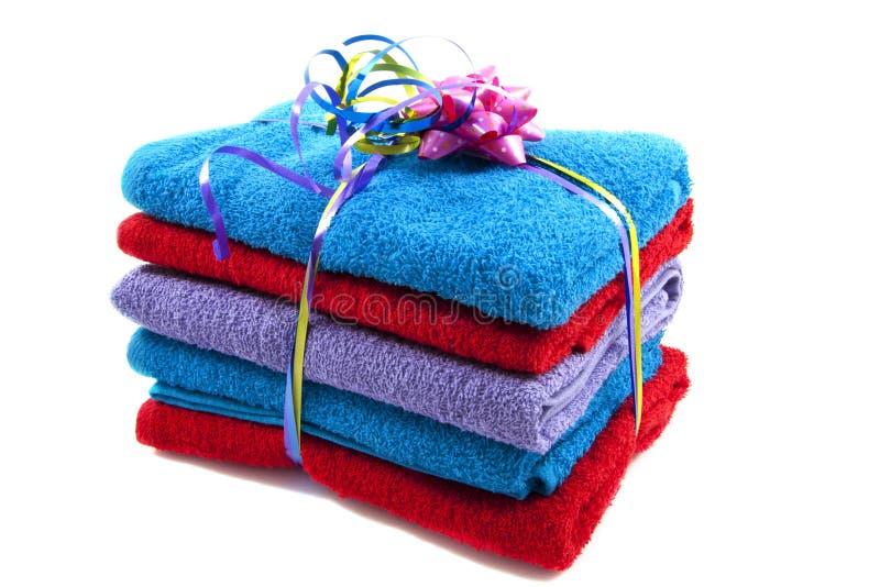 Pilha das toalhas imagens de stock royalty free