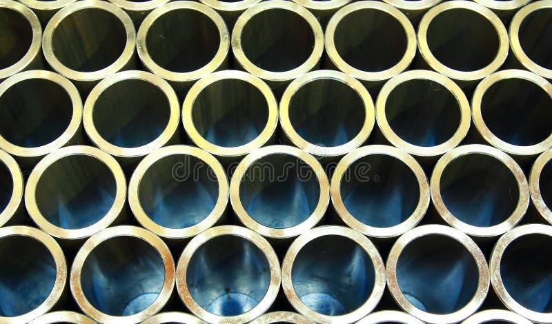 Pilha das tubulações de aço fotografia de stock royalty free