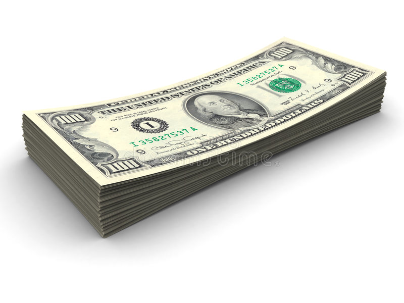 Pilha De $100 Contas Imagens de Stock