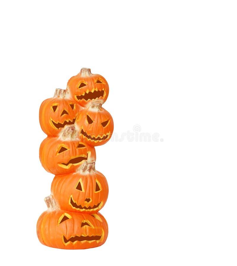 Pilha de abóboras de Halloween fotos de stock