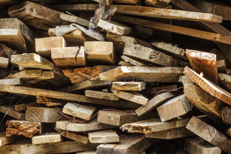 Pilha de barras de madeira fotografia de stock royalty free