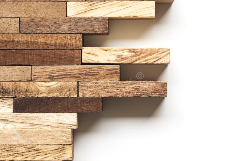 Pilha de barras de madeira fotografia de stock