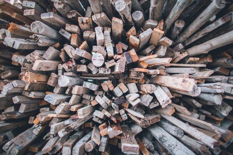Pilha de barras de madeira foto de stock royalty free