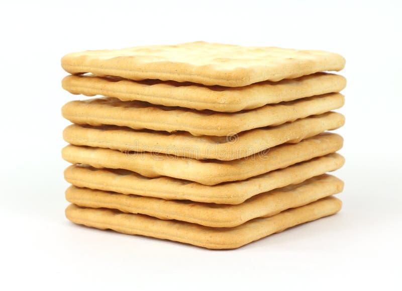 Pilha de biscoitos duros imagens de stock royalty free