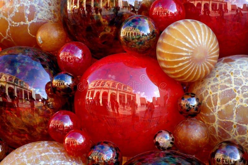 Pilha de bolas do Natal fotografia de stock
