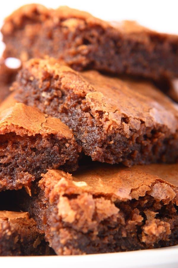 Pilha de brownies foto de stock