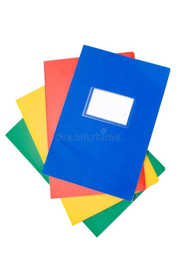 Pilha de cadernos fotografia de stock royalty free