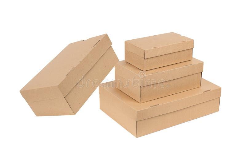 Pilha de caixas isoladas fotos de stock royalty free