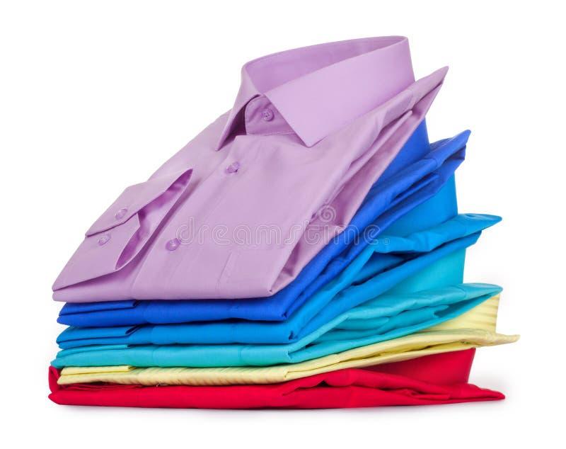 Pilha de camisas, imagens de stock