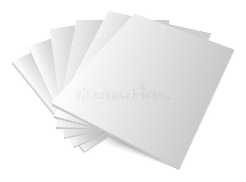 pilha de capas de revista vazias ilustração stock