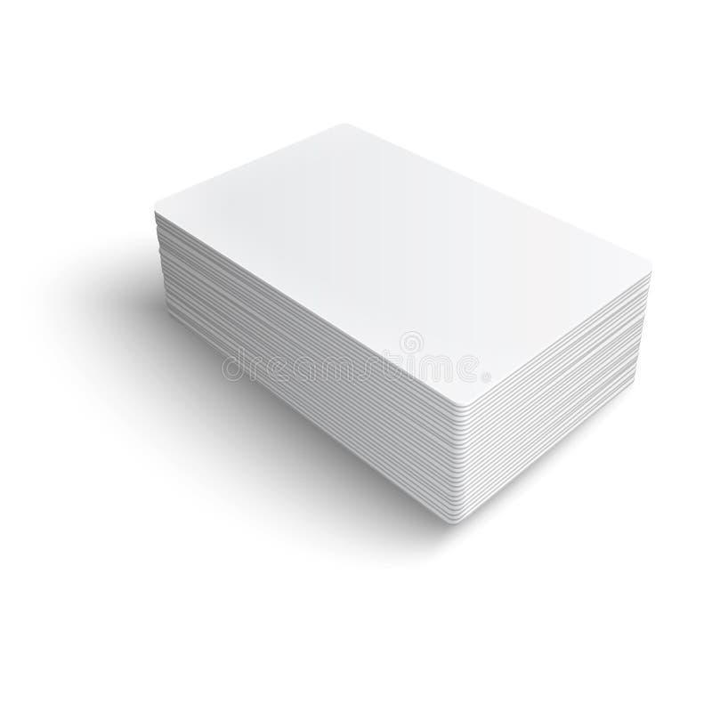 Pilha de cartão vazio. ilustração royalty free