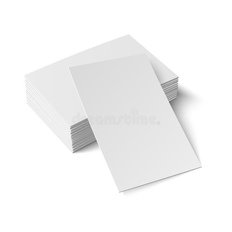 Pilha de cartão vazio. ilustração stock