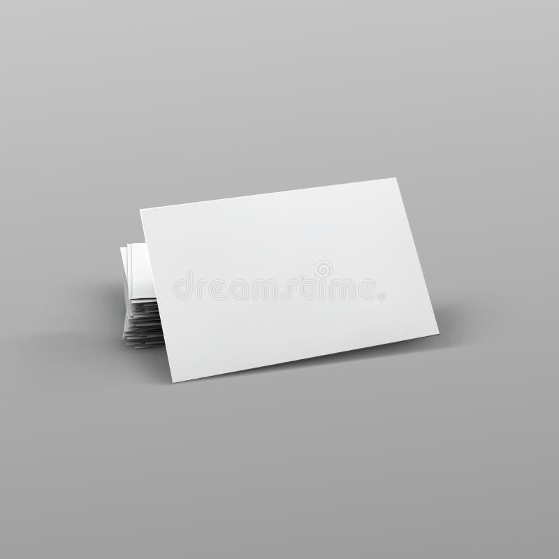 Pilha de cartão vazio ilustração royalty free