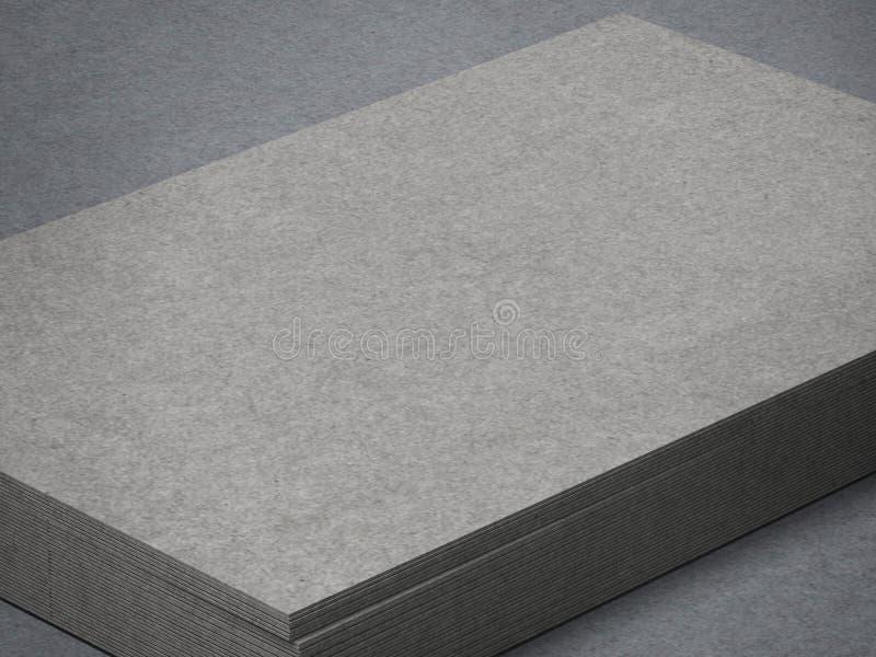 Pilha de cartões cinzentos ilustração do vetor