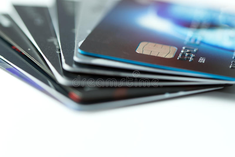 Pilha de cartões de crédito imagem de stock royalty free