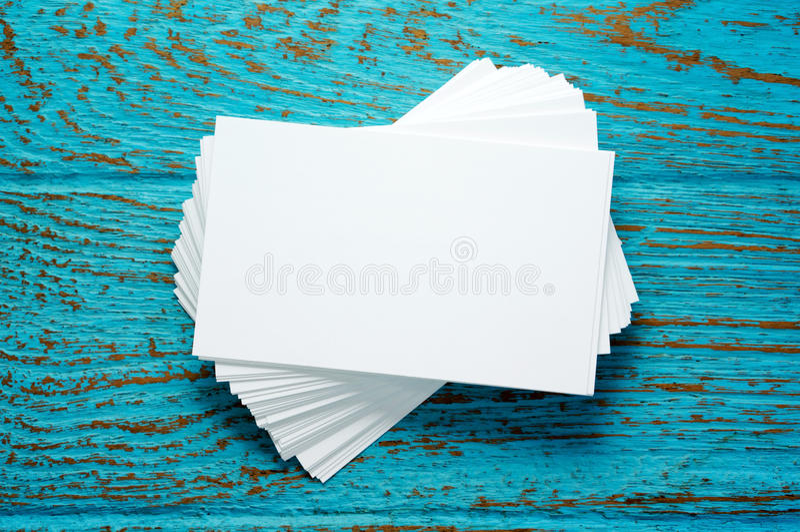 Pilha de cartões vazios foto de stock