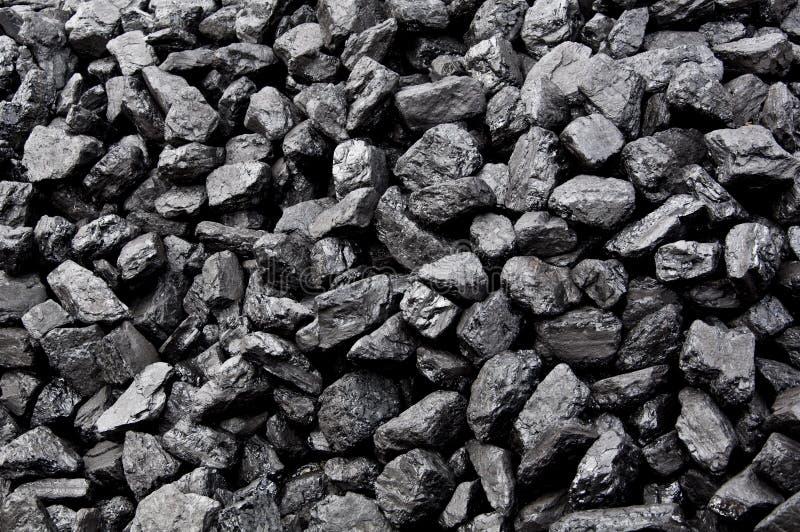 A pilha de carvão imagens de stock