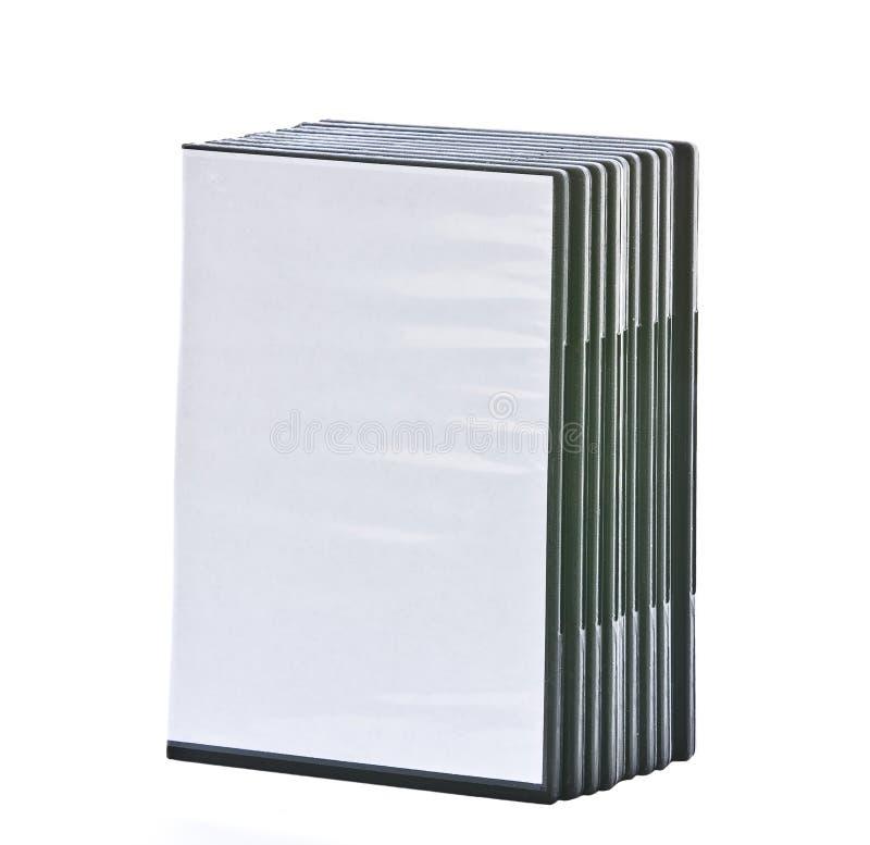 Pilha de casos em branco de DVD imagens de stock